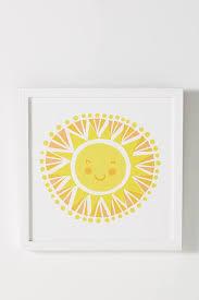 little sunshine yellow wall art