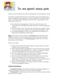 step by step guide to essay writing esl buzz some tips to write for and against essay