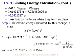 ex 1 binding energy calculation cont