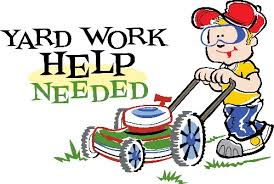 Image result for yard work cartoon