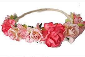 Paper Flower Headbands Amazon Com N 2 Pink Red Paper Flower Crown Made Of Mulberry