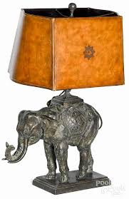 maitland smith bronze elephant table lamp 30 h by pook pook inc 455436 bidsquare