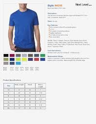 Next Level Clothing Size Chart 2019