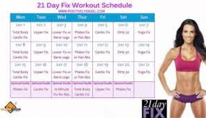 21 Day Challenge Workout Schedule The 21 Day Fix Workouts