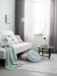 Trendy Living Room Mint Sofa As The Element Of Stability In A Trendy Living Room