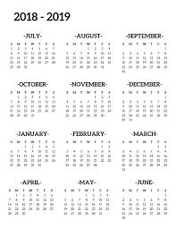 2019 Calendar Printable Template 2018 2019 School Calendar Printable Free Template Paper Trail Design