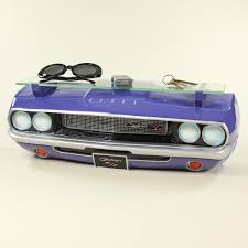 retro dodge challenger 1970 car front wall shelf