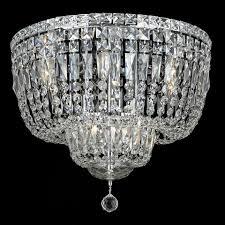 elegant 2528f20c rc tranquil 20 nbsp 10 light crystal chrome flush mount ceiling lighting loading zoom