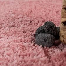 Microfaser Badezimmer Teppich Einfarbig Rosa Teppichde