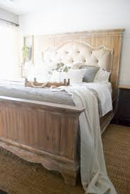 Cape Cod Panel Bed Pure White Country Style King Size  Vintage OakCountry Style Bed