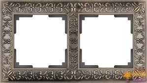 <b>Рамка Werkel Antik</b> на 2 поста бронза WL07-Frame-02 ...