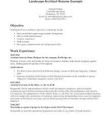 Resume For Architecture Internship Architectural Cover Letter