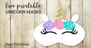 These printable masks include a basic mask shape and then various ears, a top hat and a crown for you to pick create superhero masks with these free felt superhero mask templates. Free Printable Unicorn Masks Paper Trail Design