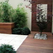 Small Picture modern patio design idea asian style garden wooden deck bamboo