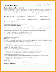 Sample Hotel General Manager Resume Idea Hotel Resume Objective For Hotel Manager Resume Hotel