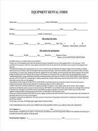 Equipment Contract Template Sample Equipment Rental Agreement Template Visualbrains Regarding 5