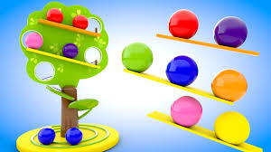 Learn Colors For Children With Wooden Tree Color Balls Slider Toy