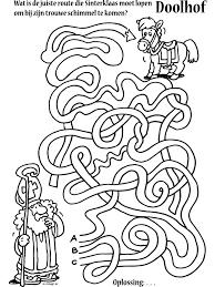 Kleurplaat Doolhof Sinterklaas Nr 10414 Kleurplatennl