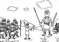 Small Picture David and Goliath Free Coloring Page httpmakingartfuncom
