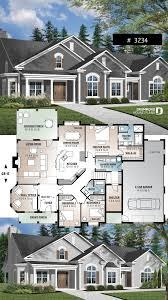 4 Bedroom Chalet Bungalow Design 3 To 4 Bedroom Ranch Home Plan Split Bedrooms Large Master