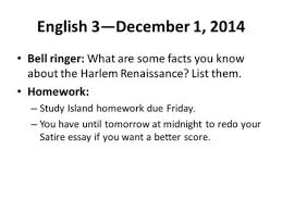 harlem renaissance s s harlem new york city ppt english 3 1 2014 bell ringer what are some facts you know