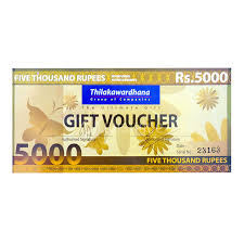thilakawardhana gift voucher rs 5000