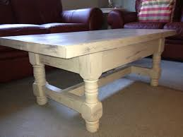 it is painted an off white pale gray color i distressed it and finished it with a protective furniture wax