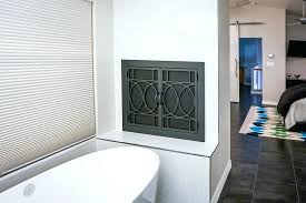 door represents personality kind hottest trends market modern fireplace contemporary brushed nickel doors glass