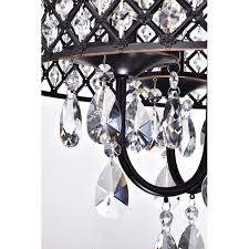 edvivi marya 4 lights oil rubbed bronze round crystal chandelier ceiling fixture beaded drum shade