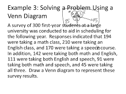 Examples Of Venn Diagram In Math Problems Section 2 4 Using Sets To Solve Problems Ppt Video Online