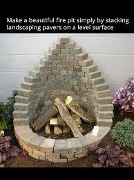 Stacked Stone Fire Pit simple stone fire pit using stone pavers relax in your own back 1117 by uwakikaiketsu.us