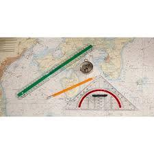 Laminated Poster Maritim Chart Compass Protractor Navigation Ruler Poster Print 24 X 36