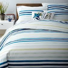 watercolor stripe duvet cover west elm
