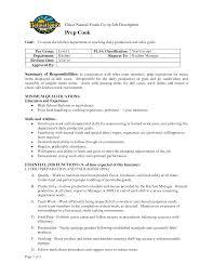 Prep Cook Resume Resume For Prep Cook Therpgmovie 4