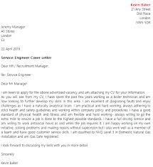 Service Cover Letter Service Engineer Cover Letter Example Icover Org Uk