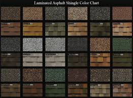 Shingle Color Comparison Chart Roofing Striking Beauty And Durable Roofing Protection
