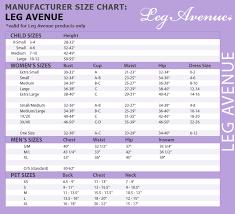Leg Avenue Costume Size Chart Bedowntowndaytona Com