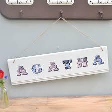 childrens personalised bedroom door sign