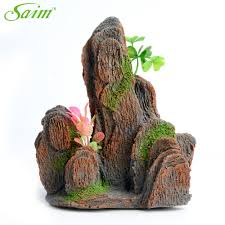 Mountain Decor Accessories Saim Aquarium Fish Tank Fake Mountain Decoration Artificial 73