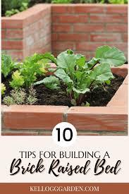 making a brick raised garden bed