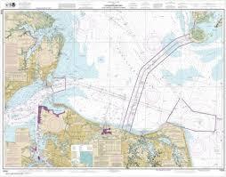 Chesapeake Bay Maps Charts Noaa Chart Chesapeake Bay Cape Charles To Norfolk Harbor 12222