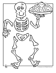 Small Picture Skeleton Halloween Coloring Page Woo Jr Kids Activities