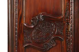 french antique hand carved armoire. French Style Hand Carved Mahogany Vintage Armoire, Wardrobe Or Closet Antique Armoire