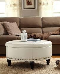storage ottoman coffee table ikea simple round tufted stylish de