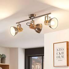 Deckenlampe Holz Weiß Wohnzimmerleuchte Led