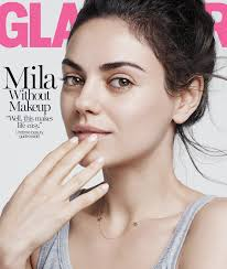 mila kunis goes makeup free for glamour says there s nothing she doesn