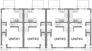 main floor plan 2 for f 536 4 plex plans 2 story townhouse