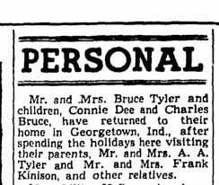 Bruce Tyler Connie and Charles Adam and Lorena Tyler and Frank Kinison -  Newspapers.com