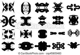 Complex Black And White Vector Shapes Set