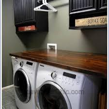 diy wood countertop laundry room